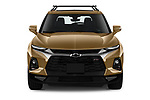 Car photography straight front view of a 2019 Chevrolet Blazer RS 5 Door SUV Front View