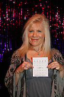 One Life To Live's Ilene Kristen with bingo card on April 28, 2010 at Will Clark's P*rno Bingo at Pieces, New York City, New York to benefit the American Foundation for Suicide Prevention - an event presented by We Love Soaps (Damon Jacobs and Roger Newcomb). (Photos by Sue Coflin/Max Photos)