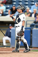 West Michigan Whitecaps catcher Tim Remes (10) during a game against the Great Lakes Loons on June 4, 2014 at Fifth Third Ballpark in Comstock Park, Michigan.  West Michigan defeated Great Lakes 4-1.  (Mike Janes/Four Seam Images)