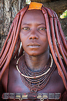 Himba lady in remote Kaokoland, Namibia
