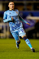 17th February 2021; St Andrews Stadium, Coventry, West Midlands, England; English Football League Championship Football, Coventry City v Norwich City; Callum O'Hare of Coventry City hunts the ball