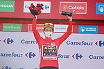Primoz Roglic (SLO) Jumbo-Visma retakes the race leaders Red Jersey at the end of Stage 6 of La Vuelta d'Espana 2021, running 158.3km from Requena to Alto de la Montaña Cullera, Spain. 19th August 2021.    <br /> Picture: Luis Angel Gomez/Photogomezsport   Cyclefile<br /> <br /> All photos usage must carry mandatory copyright credit (© Cyclefile   Luis Angel Gomez/Photogomezsport)