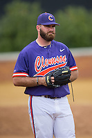 Clemson Tigers pitcher Andrew Towns (31) during the game against the Wake Forest Demon Deacons at David F. Couch Ballpark on March 12, 2016 in Winston-Salem, North Carolina.  The Tigers defeated the Demon Deacons 6-5.  (Brian Westerholt/Four Seam Images)