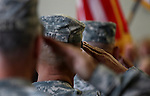 Three Nevada National Guard members killed earlier this week by a gunman in an IHOP restaurant are honored during a private memorial in Carson City, Nev., Sunday afternoon, Sept. 11, 2011. (AP Photo/Cathleen Allison)