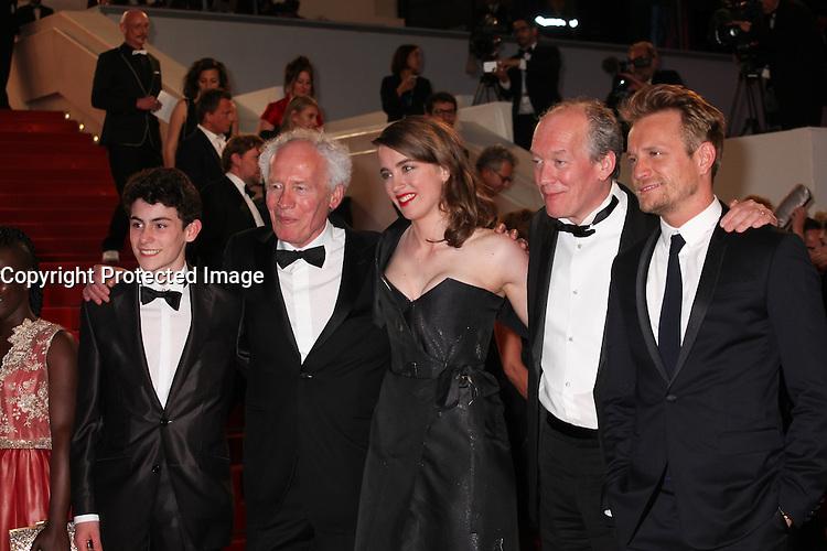 LOUKA MINNELLA, DIRECTOR JEAN-PIERRE DARDENNE, ADELE HAENEL, DIRECTOR LUC DARDENNE AND JEREMIE RENIER - RED CARPET OF THE FILM 'LA FILLE INCONNUE' AT THE 69TH FESTIVAL OF CANNES 2016