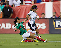 Christina Murillo, Sydney Leroux. The USWNT defeated Mexico, 7-0, during an international friendly at RFK Stadium in Washington, DC.  The USWNT defeated Mexico, 7-0.