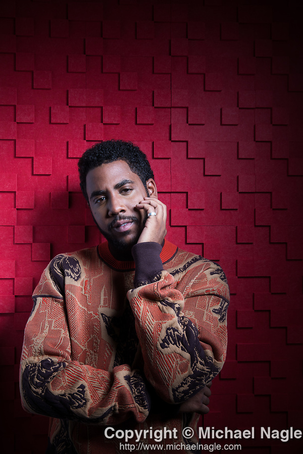 """NEW YORK, NY — 5/9/19:  Actor Jharrel Jerome, who stars in the Netflix series """"When They See Us,"""" poses for a portrait at Netflix on Thursday, May 9, 2019 in New York City.  The series, created by Ava DuVernay, takes a stirring look at the Central Park Five. Photograph by Michael Nagle"""