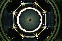 Hartford: Capitol--interior of Dome. The polychrome splendor only dimly evident here. Photo '91.