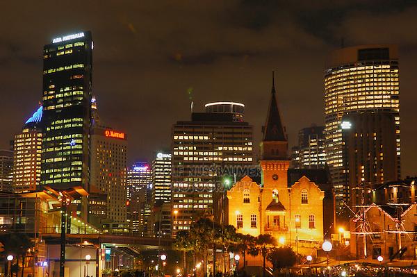 Sydney Skyline at night, New South Wales, Australia