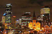 Sydney Skyline at night, New South Wales, Australia