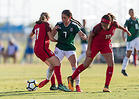 Bradenton, FL - Sunday, June 12, 2018: Nayeli Diaz during a U-17 Women's Championship Finals match between USA and Mexico at IMG Academy.  USA defeated Mexico 3-2 to win the championship.