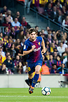Sergi Roberto Carnicer of FC Barcelona in action during the La Liga 2017-18 match between FC Barcelona and Real Madrid at Camp Nou on May 06 2018 in Barcelona, Spain. Photo by Vicens Gimenez / Power Sport Images