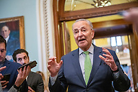 Senators vote at the US Capitol