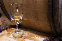 silicone bung on barrel with glass dom e monnot & f santenay cote de beaune burgundy france