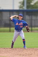 New York Mets Anthony Walters (10) throwing during a Minor League Spring Training game against the Houston Astros on April 27, 2021 at FITTEAM Ballpark of the Palm Beaches in Palm Beach, Fla.  (Mike Janes/Four Seam Images)