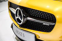 SAO PAULO, SP - 05.11.2014 - SALÃO DO AUTOMÓVEL - Mercedes AMG GT S exposta no Salão Internacional do Automóvel na tarde desta quarta-feira (5) em São Paulo. O evento receberá o público até o dia 9 de novembro.<br /> <br /> <br /> (Foto: Fabricio Bomjardim / Brazil Photo Press)