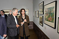 Costa GAVRAS, Audrey AZOULAY - Vernissage de l'exposition Goscinny - La Cinematheque francaise 02 octobre 2017 - Paris - France