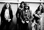 Led Zeppelin 1970 Robert Plant, John Bonham, Jimmy Page and John Paul Jones at Bath Festival.© Chris Walter.