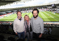 Pictured: Actor Matthew Rhys at the Penderyn Lounge Saturday 15 August 2015<br /> Re: Premier League, Swansea City v Newcastle United at the Liberty Stadium, Swansea, UK.