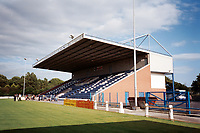 The main stand at Stranraer FC Football Ground, Stair Park, Stranraer, Scotland, pictured on 23rd July 1999