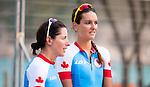 Robbi Weldon and Audrey Lemieux, Shawna Ryan and Joanie Caron, Rio 2016 - Para Cycling // Paracyclisme.<br /> Team Canada athletes compete in women's Cycling Road B Race // Les athlètes d'Équipe Canada participent à la course cycliste féminin sur route B. 17/09/2016.