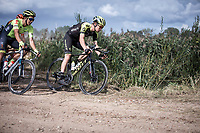 Christopher Juul Jensen (DEN/Mitchelton Scott) riding a gravel section<br /> <br /> Antwerp Port Epic 2019 <br /> One Day Race: Antwerp > Antwerp 187km<br /> <br /> ©kramon