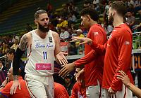 MEDELLÍN - COLOMBIA, 25-08-2017: Carlos LOPEZ de Puerto Rico durante el partido entre Puerto Rico y Mexico de la fase de grupos, grupo A, de la FIBA AmeriCup 2017 jugado en el coliseo Iván de Bedout de la ciudad de Medellín.  El AmeriCup 2017 se juega  entre el 25 de agosto y el 3 de septiembre de 2017 en Colombia, Argentina y Uruguay. / Carlos LOPEZ of Puerto Rico during the match between Puerto Rico and Mexico of the group stage Group A of the FIBA AmeriCup 2017 played at Ivan de Bedout  coliseum in Medellin. The AmeriCup 2017 is played between August 25 and September 3, 2017 in Colombia, Argentina and Uruguay. Photo: VizzorImage / León Monsalve / Cont