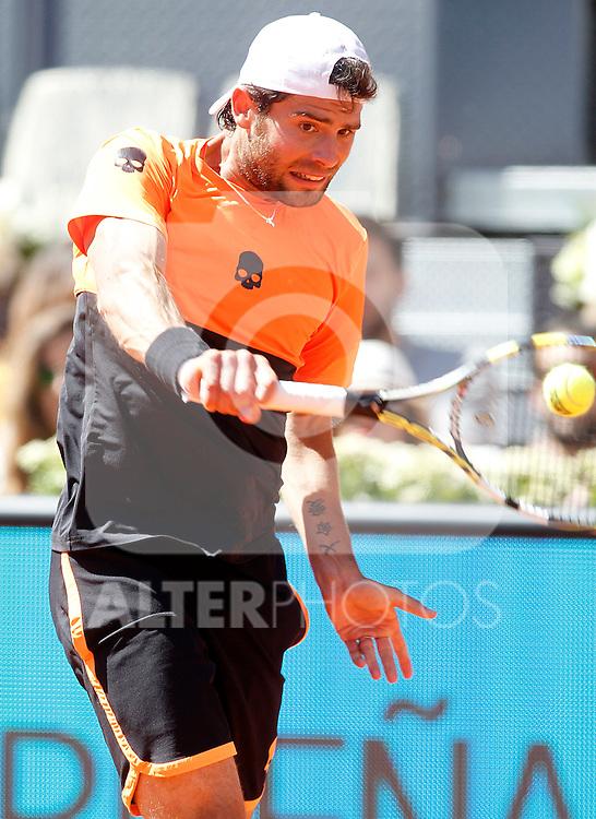 Simone Bolelli, Italy, during Madrid Open Tennis 2015 match.May, 7, 2015.(ALTERPHOTOS/Acero)