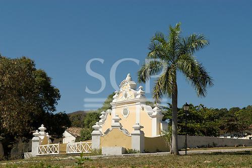Goias Velho, Brazil. Well preserved colonial town; colonial architecture; the Chafariz de Cauda fountain.