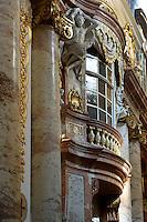 Barocker Innenraum der Karlskirche, Wien, Österreich, UNESCO-Weltkulturerbe<br /> Baroque interior of Charles church , Vienna, Austria, world heritage
