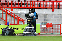 TV cameras film the match during Brighton & Hove Albion Women vs Arsenal Women, Barclays FA Women's Super League Football at Broadfield Stadium on 11th October 2020