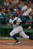 April 9th 2010: Juan Sanchez of the Brevard County Manatees in the game against the Daytona Cubs at Jackie Robinson Ballpark in Daytona Beach, FL (Photo By Scott Jontes/Four Seam Images)