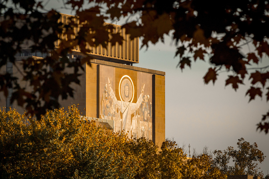 October 26, 2017; Word of Life mural, commonly known as Touchdown Jesus (Photo by Matt Cashore/University of Notre Dame)