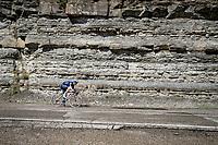 Mikkel Frølich Honoré (DEN/Deceuninck - Quick Step) descending the Passo Della Calla<br /> <br /> 104th Giro d'Italia 2021 (2.UWT)<br /> Stage 12 from Siena to Bagno di Romagna (212km)<br /> <br /> ©kramon