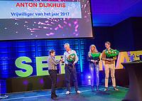 Rotterdam, Netherlands, December 16,  2017, Topsportcentrum,  KNLTB Jaarcongres,  Vrijwilliger van het jaar 2017, Anton Dijkhuis<br /> Photo: Tennisimages/Henk Koster