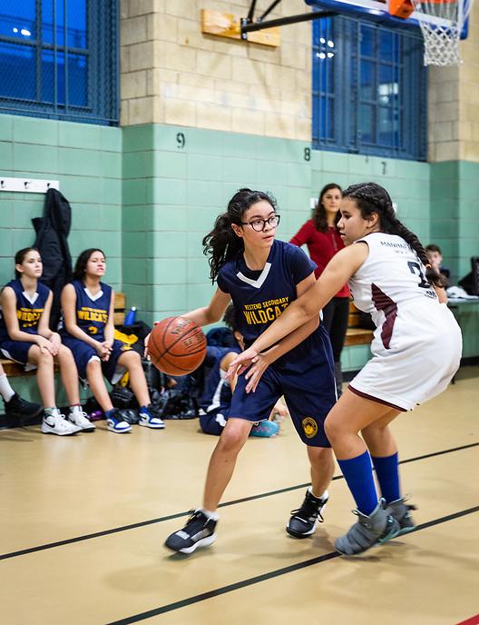 WESS Girls' Varsity Basketball vs. Center School.  photo by Ari Mintz 12/20/2018.