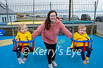 Enjoying the playground in Ballyheigue on Sunday, l to r: Twins Finn and Kai Critch with Lauren Dineen.