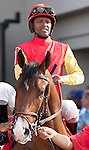 March 2010:  Hotep and Patrick Husbands before the Louisiana Derby at the Fair Grounds in New Orleans, La.