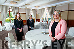 Patrice Holewa, Shauna Heaney with Sinead McCarthy (General Manager), Brehon Hotel, Killarney, pictured on Friday last.