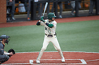 Austin Knight (14) of the Charlotte 49ers at bat against the Tennessee Volunteers at Hayes Stadium on March 9, 2021 in Charlotte, North Carolina. The 49ers defeated the Volunteers 9-0. (Brian Westerholt/Four Seam Images)