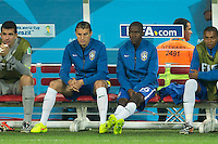 Ramires of Brazil sits on the bench