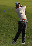 4 October 2008: Jason Day watches an approach shot during the third round at the Turning Stone Golf Championship in Verona, New York.
