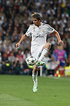 Real Madrid's Fabio Coentrao during quarterfinal second leg Champions League soccer match at Santiago Bernabeu stadium in Madrid, Spain. April 22, 2015. (ALTERPHOTOS/Victor Blanco)