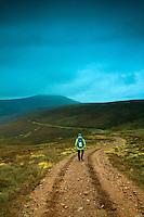 Descending towards Carn Dearg Mor from Meall an Uilt Chreagaich above Glen Feshie, Cairngorm National Park