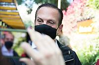 SÃO PAULO, SP, 01.06.2021 - POLITICA-SP = João Doria, Governador de São Paulo durante entrega de obras de modernização da Estação Vila Olímpia Sustentável, na Linha 9-Esmeralda nesta terça-feira, 01 julho. Por meio de parceria do Governo de São Paulo com a iniciativa privada, a estação de trem passou por uma transformação sustentável e recebeu jardins verticais, instalação de torneiras e saboneteiras com sensores de presença nos banheiros públicos, sistema de tratamento de água de esgoto dos banheiros públicos por meio de jardins filtrantes e calhas para facilitar o acesso de bicicletas, (Foto André Ribeiro/Brazil Photo Press)