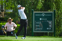 6th June 2021; Dublin, Ohio, USA; Russell Knox (IRL) watches his tee shot on 9 during the Memorial Tournament final round at Muirfield Village Golf Club