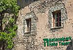 Oesterreich, Salzburger Land, Pinzgau, Raurisertal, Rauris: Gemeindeamt Voglmairhaus, Detail | Austria, Salzburger Land, region Pinzgau, Rauris Valley, Rauris: Municipal office, facade