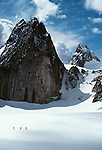 Trekkers near Snowpatch Spire, The Bugaboos, Canada