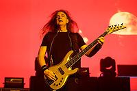 São Paulo (SP), 24/05/2021 - Megadeth - O baixista David Ellefson, fundador do Megadeth, foi oficialmente afastado da banda, por meio de comunicado em redes sociais, após o vazamento de vídeos íntimos do músico com uma garota menor de idade. FOTO DE ARQUIVO - SAO PAULO, SP 31.10.2017: MEGADETH-SP - A banda Megadeth, formada por Dave Mustane, David Ellefson, Kiko Loureiro e Dirk Verbeuren se apresentou na noite desta terça (31) no Espaco das Americas, zona oeste da capital paulista. A abertura foi da banda Vimic, liderada por Joey Jordison, ex-baterista e co-fundador do Slipknot. (Foto: Ale Frata/Codigo19)