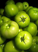 close up of green tomatoes